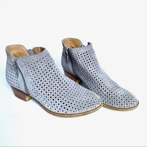 Lucky Brand Suede Perforated Booties